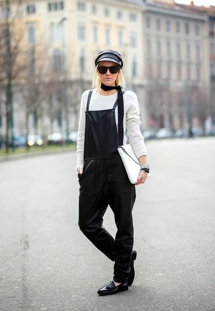 hippie hippie milkshake blogger overalls pouch loafers