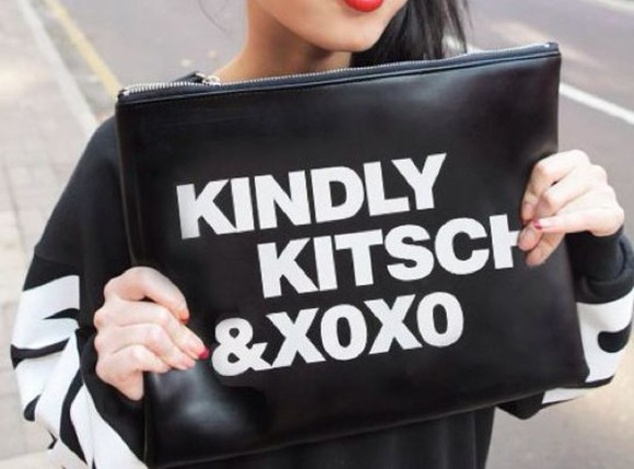 bag black clutch fashion purse xoxo cute style vogue white quote on it