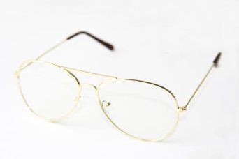 amazoncom gold frame clear lens aviator clothing