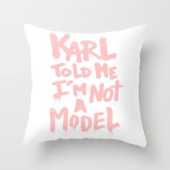 Karl told me... throw pillow by ludovic jacqz