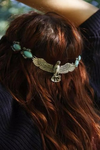 hair accessory headpiece headband jewelry headband eagle boho vintage jewelry boho jewelry