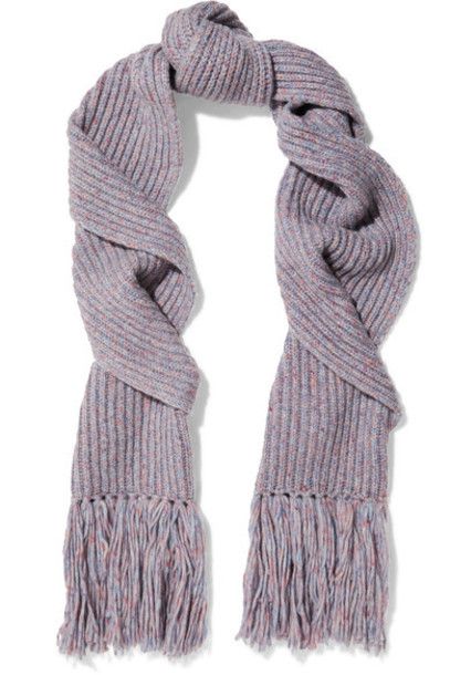 Rag & Bone scarf wool purple
