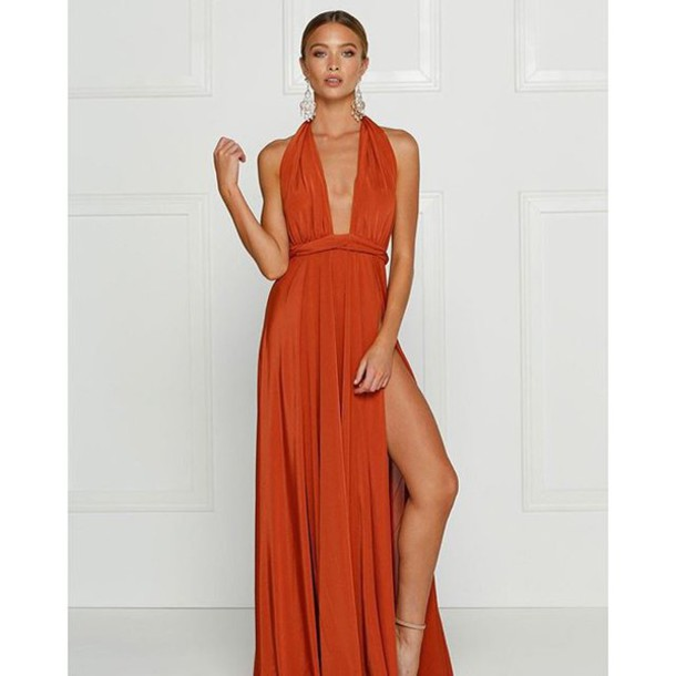 Dress Alamour The Label Catalina Rust Burnt Orange Tuscany