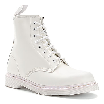 Martens 1460 8-Eye Boot | Women\'s - White Smooth - FREE SHIPPING ...
