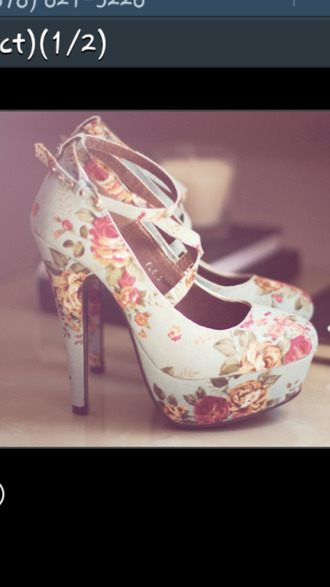 shoes floral high heels cute high heels helpmefindthisplease dress