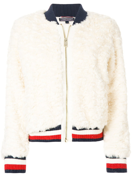 Tommy hilfiger jacket bomber jacket fur women white