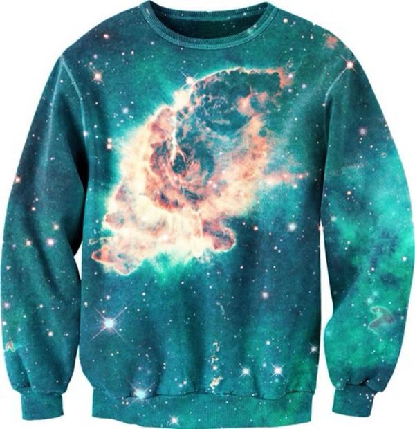 jumpsuit galaxy print hoodie