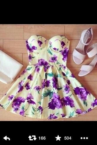 dress violets straples