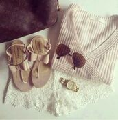 shorts,shoes,sweater,sandles,sandals,sunglasses,watch,louis vuitton bag,beige,nude,strappy