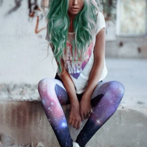 neon pants outer space leggings