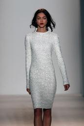 dress,sequin dress,midi length,white sequin dress