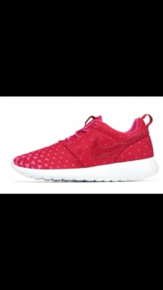 shoes nike roshe run pink triangles nike nike roshe run nike roshe run nike running shoes floral roses yellow nike sneakers nike roshes floral