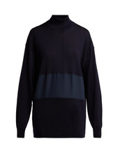 sweater,wool sweater,navy,silk,wool