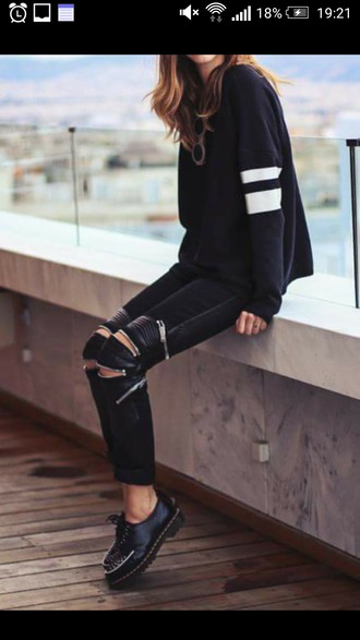 leggings leather cut-out black allblack