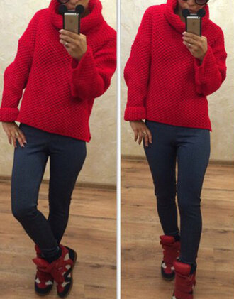 sweater sweat the style winter sweater knitted sweater knitwear knitted cardigan red warm warm sweater outfit outfit idea fall outfits tumblr outfit winter outfits cute outfits streetwear streetstyle girly girly wishlist dope wishlist grunge wishlist hipster wishlist hipster
