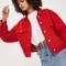 Oversized denim jacket - red
