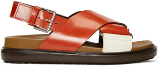sandals white red shoes