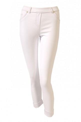 White 3/4 length jeggings