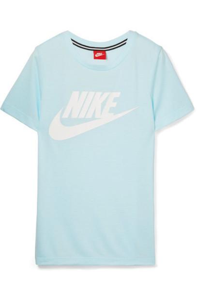 Nike t-shirt shirt t-shirt blue sky blue top