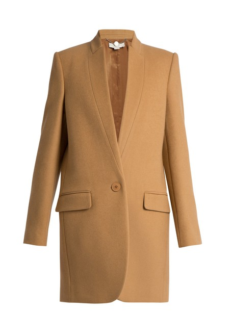 Stella McCartney coat wool camel