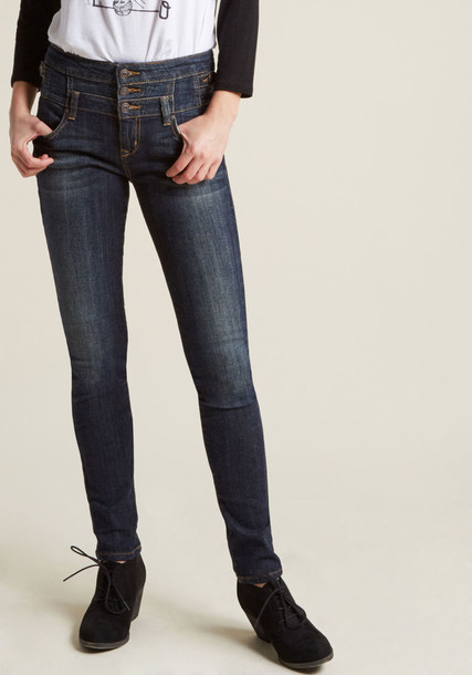Modcloth jeans skinny jeans dark