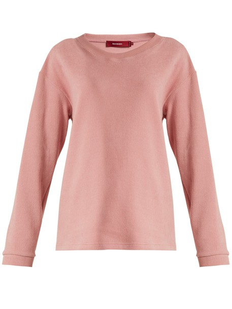 sweatshirt cotton light pink light pink sweater