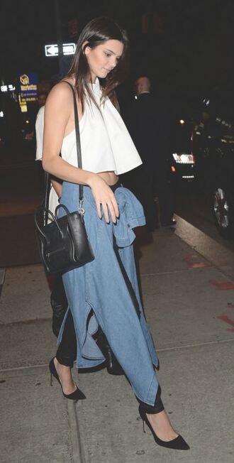 crop tops kendall jenner white top top