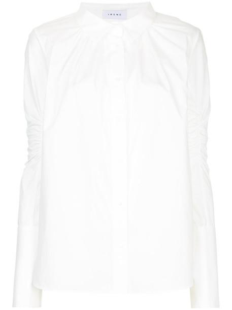 Irene shirt women white cotton top