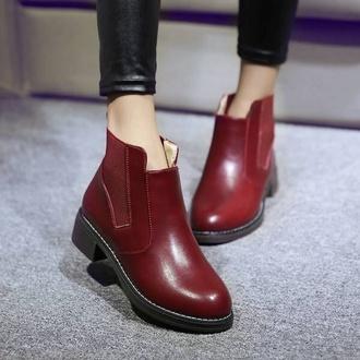 shoes classy style crimson