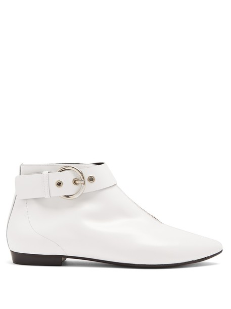 Isabel Marant leather ankle boots ankle boots leather white shoes