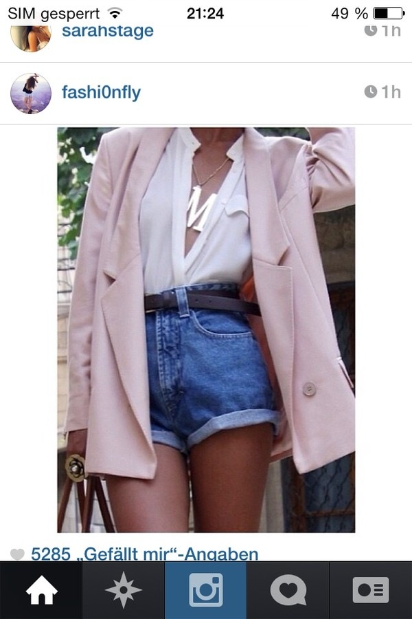 blouse white jacket jeans jewels necklace