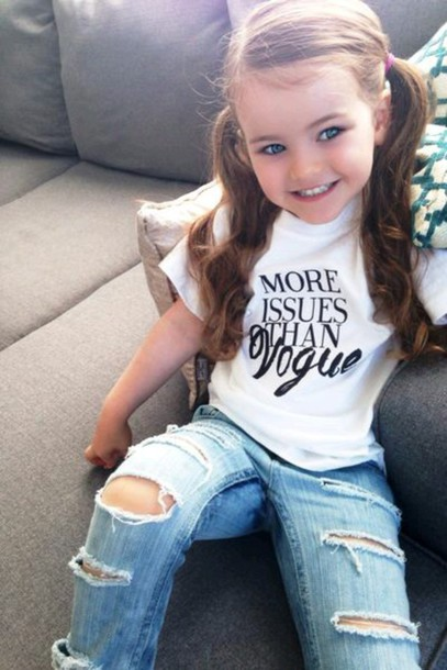 T Shirt Baby Clothing Kids With Swag Jeans Ripped