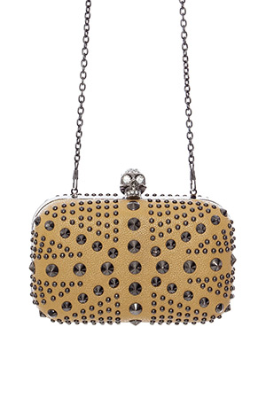 Skull Studded Box Clutch