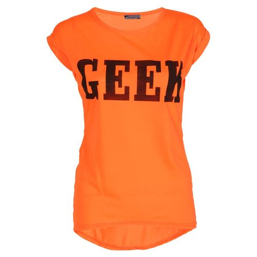 LADIES NEON GEEK PRINT SLEEVELESS TOP WOMENS T-SHIRT VEST SIZE 8-14 | Amazing Shoes UK