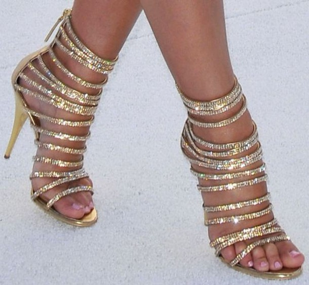 Gold Sandal Heels - Ds Shoes Strappy Heels Glitter Shoes Rhinestone Shoes Sandal Heels Sparkly Heels Gold Heels Party Shoes