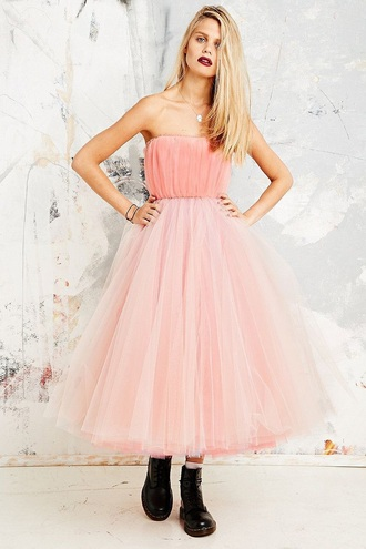 dress betsey johnson grunge prom urban outfitters tulle dress shoes