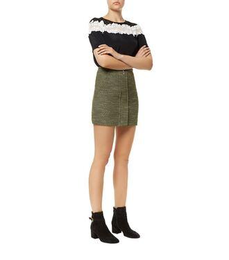 skirt olive green mini skirt green texture