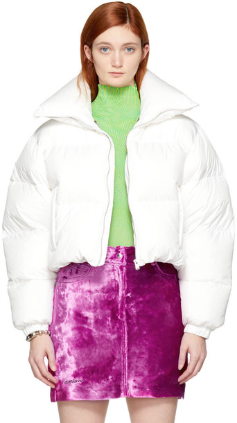 Misbhv jacket down jacket white