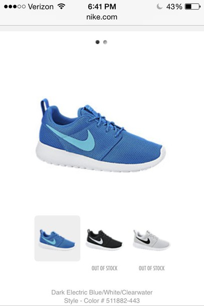 f4069cacda66 shoes light and dark blue nike roshes women