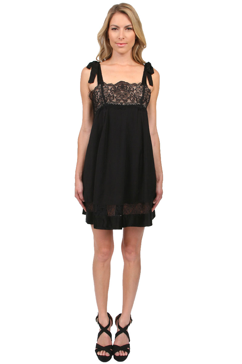 For Love & Lemons Bo Peep Dress in Black