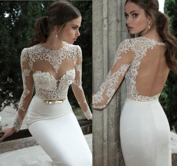 RP0261 Elegant  Appliques A line  High Lace White Long Sleeve Open Back Lace Beading  Floor Length Prom Dress Gown 2014-in Prom Dresses from Apparel & Accessories on Aliexpress.com