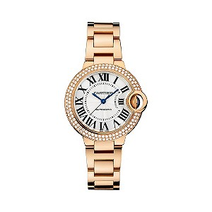 Cartier Ballon Bleu 33mm ladies' rose gold bracelet watch - Ernest Jones