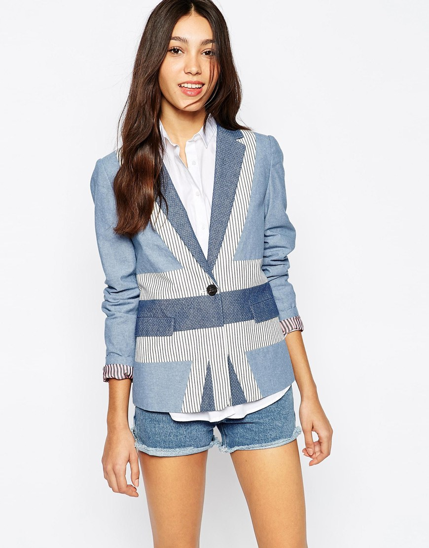 Jack wills union jack blazer at asos.com