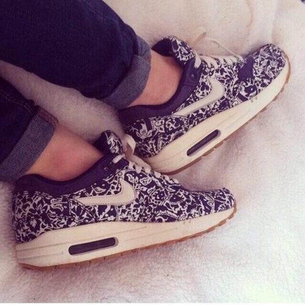 shoes nike sneakers blue air max