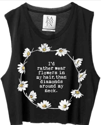 floral quote on it top