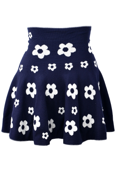 Floral Pattern Mini Skirt - OASAP.com