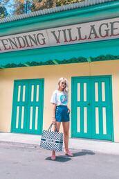 bag,top,shorts,blue shorts,shoes,dior bag,sunglasses,summer outfits
