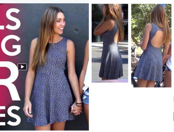 dress open back short dress print