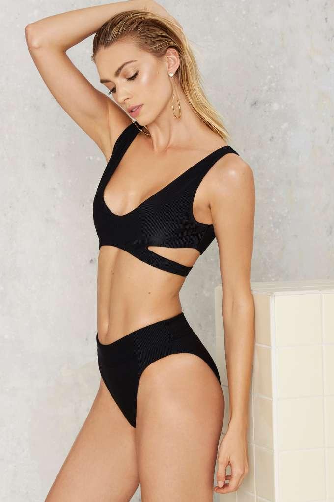 95251d1dcafa9 Nasty Gal Alina Mix & Match High-Waisted Bikini Bottom