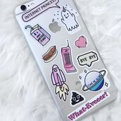 phone cover,yeah bunny,pink,pastel,stickers,apple,iphone,ghost